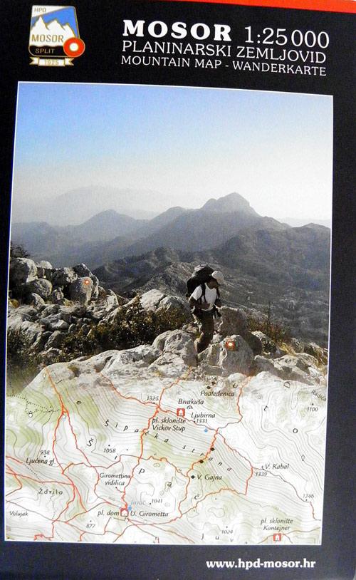 Mountain Map Of Croatia Web Shop Planinarske Mape Walk In